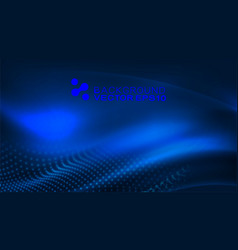 abstract dynamic flowing wave for technology vector image