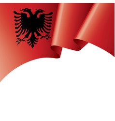 Albania flag on a white vector