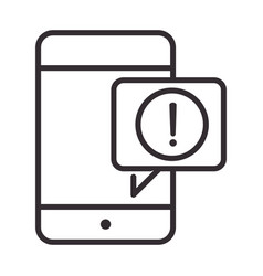 alert icon smartphone notification warning vector image
