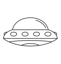 Alien spaceship icon outline style vector