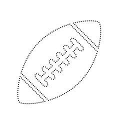 american simple football ball black vector image