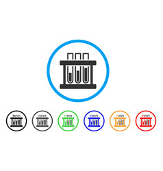 analysis test-tubes rounded icon vector image