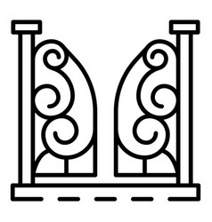 anvil gate icon outline style vector image