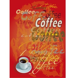 banner with coffee cup vector image
