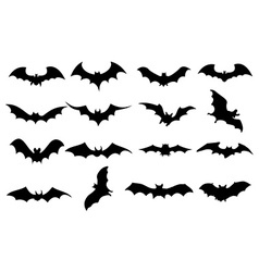 Bats icons set vector