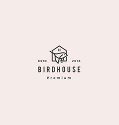 Bird house logo hipster retro vintage icon vector