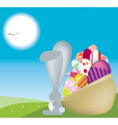 bunny sack vector image