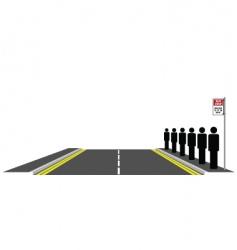 bus queue vector image