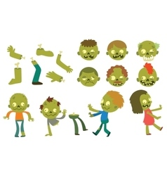 Cartoon zombie characters vector