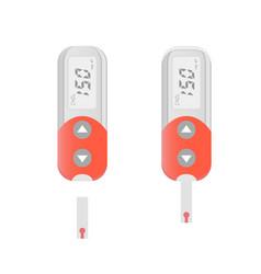 Cholesterol meter icon vector