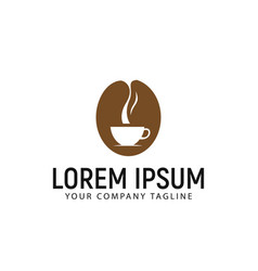 coffee logo design concept template vector image