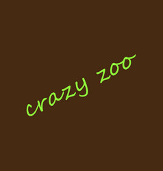 Crazy zoo vector
