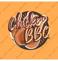 Creative logo design with chicken legs vector