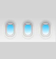 creative of flight airplane vector image