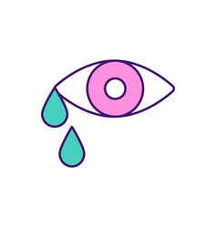 Crying rgb color icon vector