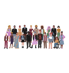 diverse multiracial and multicultural group of vector image