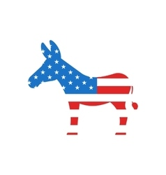 Donkey as a Symbol of American Democrats vector image