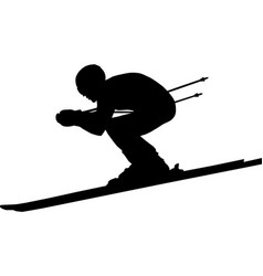 downhill man athlete skiing to competition vector image