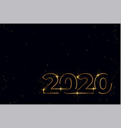 elegant black and gold new year banner design vector image