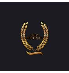 Film Festival Award Sign vector image