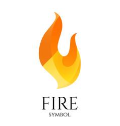fire logo icon conceptual flame symbol vector image