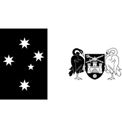 Flag australian capital territory black vector