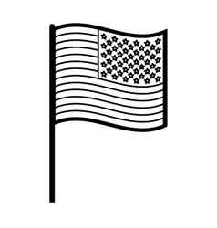 Flag united states usa icon image vector