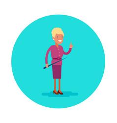 flat icon a school teacher vector image