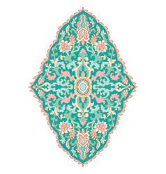 Floral blue medallion for design vector