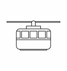 Funicular icon outline style vector image