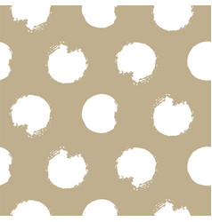 gold and white bold rough dots seamless vector image