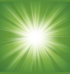 Green and white abstract magic light background vector image