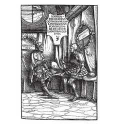 Hans burgmais print was created in 1516 in vector