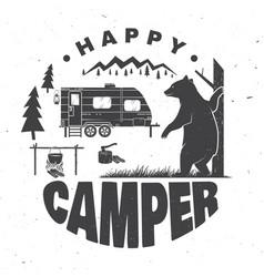 Happy camper concept vector