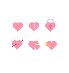 heart icon design for chat app or dating app vector image