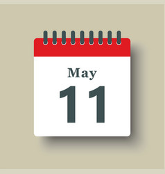Icon day date 11 may template calendar page vector