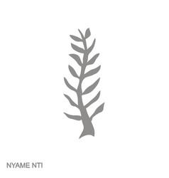 Icon with adinkra symbol nyame nti vector