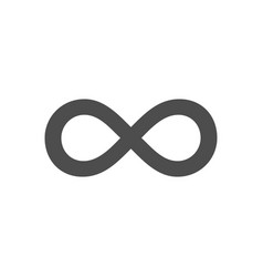 Infinity symbol loop figure 8 icon eternity logo vector