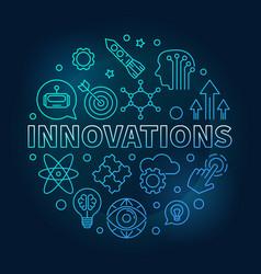 Innovations round blue vector