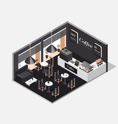 interior of coffee shop vector image
