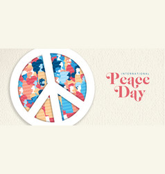 International peace day banner for people freedom vector