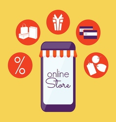 Internet store mobilni2 vector