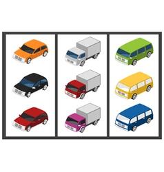 isometric car vector image