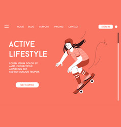 landing page active lifestyle concept vector image