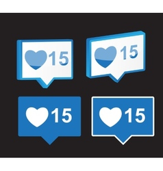 Like Notification Icon vector