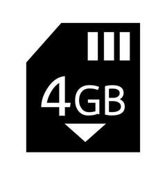 Memory card 4 gb icon design vector