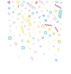memphis style geometric confetti vector image