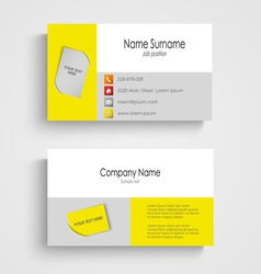 Modern colored business card template vector