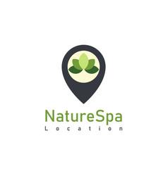 Nature spa locate logo design template vector