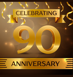 Ninety years anniversary celebration design vector